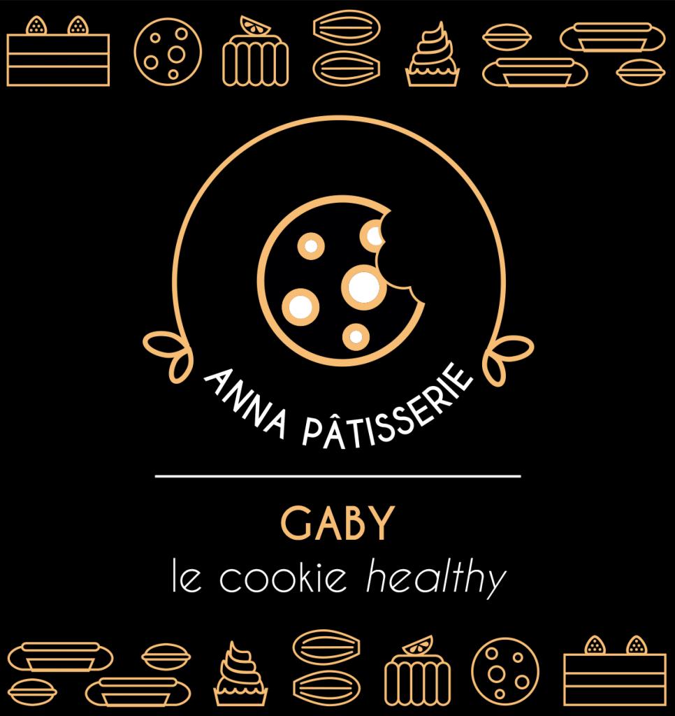 graphisme de l'étiquette gaby le cookie